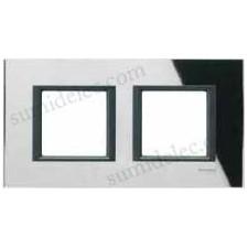 Marco 2 elementos espejo negro mgu68.004.7c1 unica class eunea