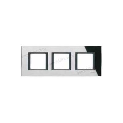 marco 3 elementos espejo negro unica class