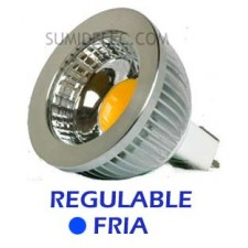 Bombilla led regulable dicroica mr16 luz fria 5w 12v Epistar