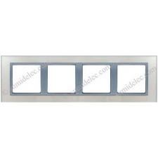 Marco cristal plata 4 ventanas 82947-62 Simon Nature 82