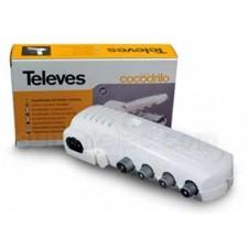 Amplificador de vivienda CEI 1e/2s/1tv alim previos 545740 Televés