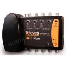 Central amplificadora terrestre sat 4e/1s 5396 MiniKom Televes