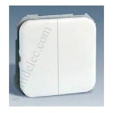 Grupo 2 pulsadores blanco simon 31 31396-30