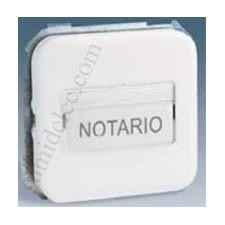 Pulsador porta-rotulos luminoso simon 31 blanco 31160-30
