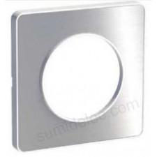 Marco 1 elemento aluminio cepillado odace touch schneider