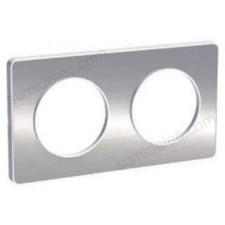 Marco 2 elementos aluminio cepillado odace touch schneider