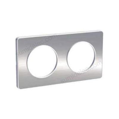 Marco 2 elementos aluminio cepillado...