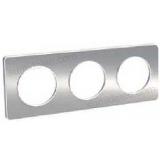 Marco 3 elementos aluminio cepillado odace touch schneider