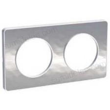 Marco 2 elementos aluminio martele odace touch schneider