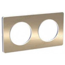 Marco 2 elementos bronce cepillado odace touch schneider