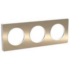 Marco 3 elementos bronce cepillado odace touch schneider