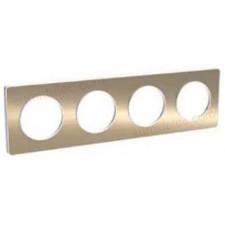 Marco 4 elementos bronce cepillado odace touch schneider