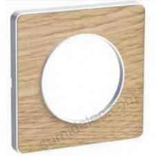Marco 1 elemento nature madera S520802N odace touch schneider