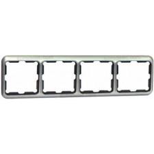 Marco 4 elementos aluminio serie 75 simon 75640-33