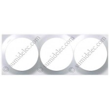 Marco blanco 3 elementos Simon 88 gama cuadrada 88632-30