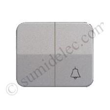Tecla grupo 1 conmutador 1 pulsador campana gris simon 75