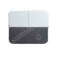 Tecla grupo 1 conmutador 1 pulsador campana aluminio simon 75