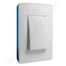 Marco blanco base azul índigo 1 elemento Simon 8200610-201