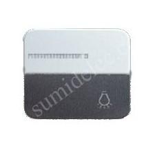 Tecla pulsador luminoso simbolo luz simon 75 aluminio