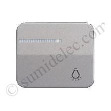 Tecla pulsador luminoso simbolo luz simon 75 gris