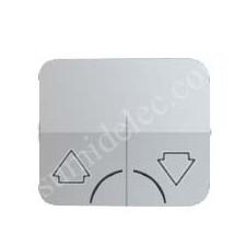 Tapa grupo 2 pulsadores sin enclavamiento aluminio simon 75