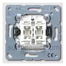 Interruptor doble con iluminacion 505u5 10ax 250v serie ls990 ju