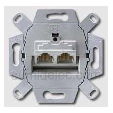 Toma 2 conectores informatica rj45 categoria 5 serie ls990 jung uae8-8upok5