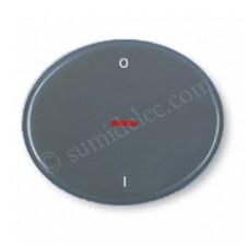 Tecla interruptor bipolar visor 5501.4gp gris piedra tacto niess