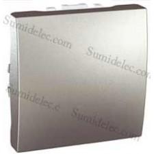 Tapa ciega modulo ancho u9.866.30 aluminio unica schneider
