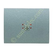 Tecla visor interruptor tarjeta 8414ga gris artico serie olas ni