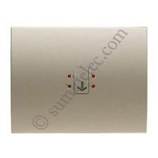 Tecla visor interruptor tarjeta 8414 CS cobre saten olas niessen
