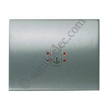 Tecla visor interruptor tarjeta 8414 AP acero perla olas niessen