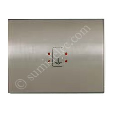 Tecla visor interruptor tarjeta 8414 AL acero pulido olas niessen