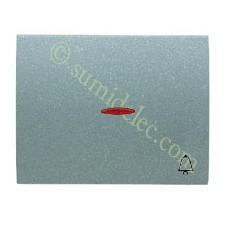 Tecla pulsador visor simbolo timbre gris artico olas niessen