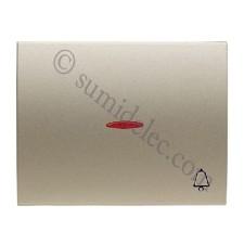 Tecla pulsador visor simbolo timbre 8404.3 cs cobre saten olas niessen