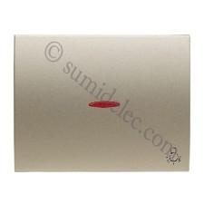 Tecla pulsador visor simbolo luz 8404.4 CS cobre saten olas niess