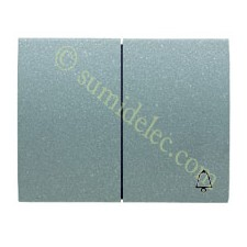 Tecla pulsador + conmutador 8442ga gris artico olas niessen
