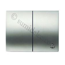 Tecla pulsador + conmutador 8442 tt titanio olas niessen