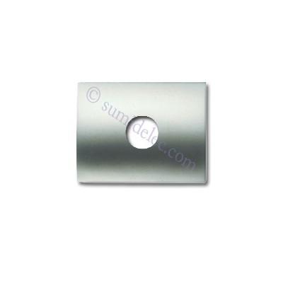 Tapa para toma altavoz 8457 tt titanio Olas Niessen
