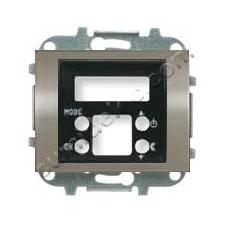 Tapa termostato digital 8440.5 AL acero pulido Olas Niessen