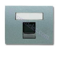 Tapa ventana 1 conector tel informatica 8418.1ga gris artico