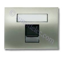 Tapa ventana 1 conector tel informatica 8418.1 nc niquel cava