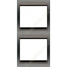 Marco 2 elementos vertical acero perla 8472ap serie Olas Niessen