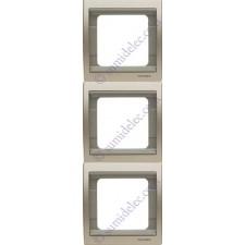 Marco 3 elementos vertical cobre saten 8473cs serie Olas Niessen