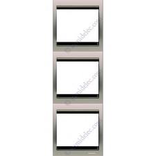 Marco 3 elementos vertical acero pulido 8473al serie Olas Niesse