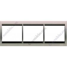Marco 3 elementos horizontal acero pulido 8473.1al Olas Niessen