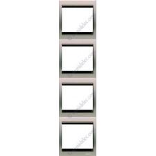 Marco 4 elementos vertical acero pulido 8474al serie Olas Niesse