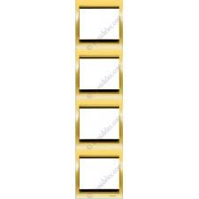 Marco 4 elementos vertical oro 8474or serie Olas Niessen
