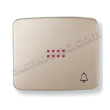 Tecla pulsador visor simbolo timbre cobre saten 82043cs Arco