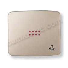 Tecla pulsador visor simbolo luz cobre saten 82044cs Arco Niesse